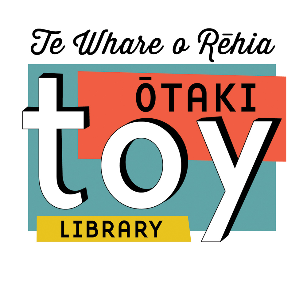 Otaki Toy Library logo - Bunkhouse graphic design