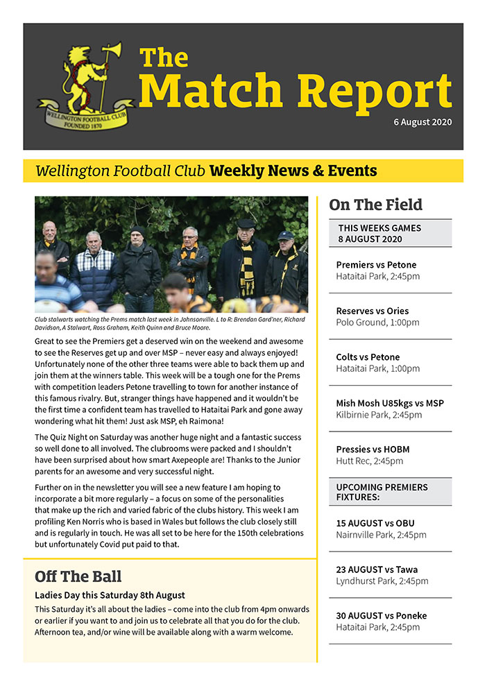 Rugby club newsletter Bunkhouse