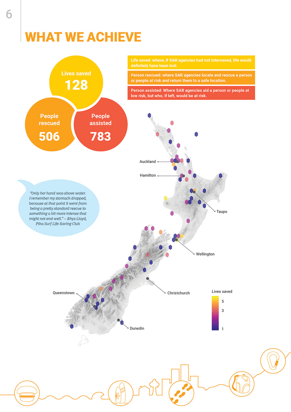 NZ Search and Rescue Annual Report 2019-20 sample page